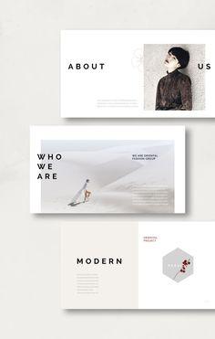 Modern oriental presentation template #cherryblossom #floral #hexagon #portfolio #ppt #powerpoint #presentation #template #pitchdeck #simplep #modern #AD