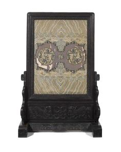 A large and imposing rare hardwood screen and stand 19th century - second sacking