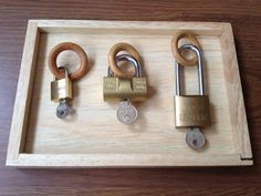 Montessori practical works keys and locks
