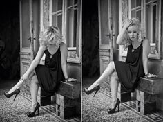 This photo was made by a very talented photographer, called cobmog,  who is no longer with us sadly.  Dress: Tamara Barnoff  #style #fashion #photography #dress #black&white #bw #blondhair