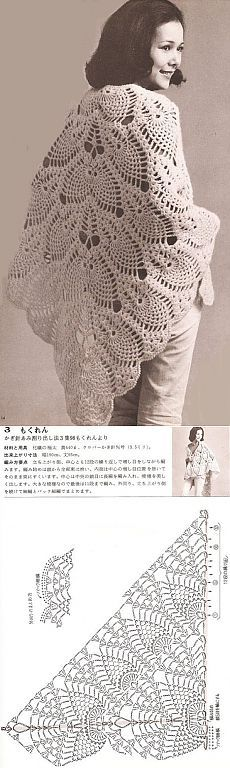 Pineapple shawl.