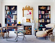 Find Full-Designed Home Interior with Best Eclectic Home Interior Design for A Comfortable Living Space : Eclectic Mix Patternes Interior Design Madrid Home Interior Design Blogs, Interior Inspiration, Interior Decorating, Decorating Ideas, Living Area, Living Spaces, Living Room, Interior Bohemio, Recessed Shelves