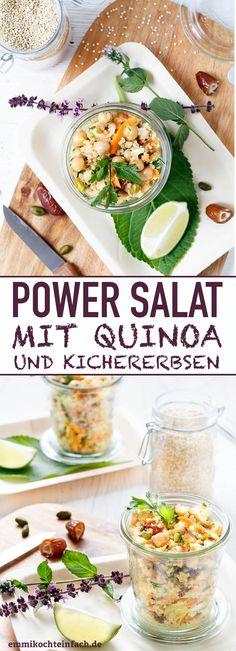 Power Salat mit Quinoa und Kichererbsen - www.emmikochteinfach.de