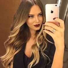 Castanha Dourada Raiz Natural #Girls#Beauty#Salon#Look#Style#Hair#Girls