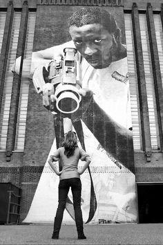 Title: I fear nothing London Graffiti street art: Black White fine art photograph of Graffiti in London