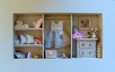 Cuadro Espacio Niña con miniaturas