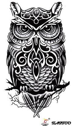 tattoos relogios corujas - Pesquisa Google