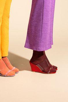 Maryam Nassir Zadeh Shoes - Cherry Clear Olympia Wedge   BONA DRAG