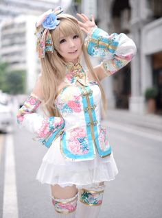 Very cute Japanese anime style, we have the custome wig: https://www.amazon.com/dp/B071V5SG87?m=A36PXVK7095D47&ref_=v_sp_detail_page&th=1