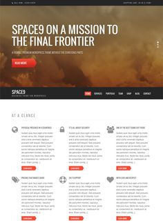 Space9 Review : Business WordPress Theme   CSSIgniter
