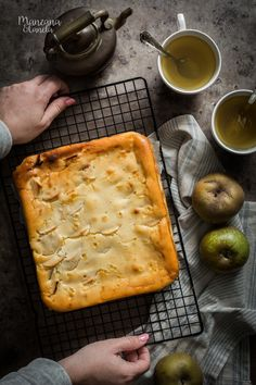 Mattonella Apple Pie And Ricotta Cheesecakes, Apple Pie, Food And Drink, Sin Gluten, Squares, Desserts, Muffin, Easy, Blog