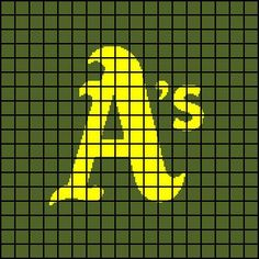 Oakland A's Athletics Crochet Afghan by AngelicCrochetDesign $5.00