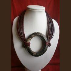 Collier ethnique africain avec pendentif bracelet hombori