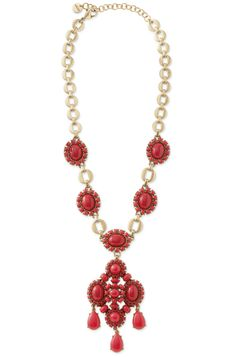 Spring 2014 Collection: Red Beaded Pendant Necklace   Sardinia Pendant   Stylist Lounge : Stella & Dot