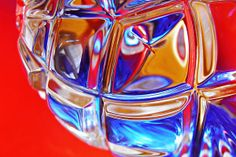 Glass Abstract 735 - photograph by Sarah Loft. Fine art prints and posters for sale. #sarahloft #abstractphotography #abstractart