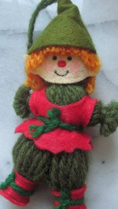 Hey, I found this really awesome Etsy listing at https://www.etsy.com/listing/165062437/1970s-hallmark-elf-yarn-felt-ornament