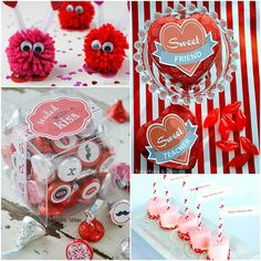 DIY Valentines featured at TidyMom.net I rather like those cute little pom poms...