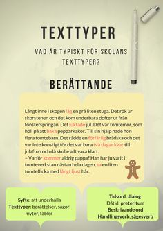 Texttyper – Poster by AC Norman Teaching Genre, Teaching Writing, Teaching English, Learn Swedish, Swedish Language, Writing Promts, School Posters, Swedish Design, Teaching Materials