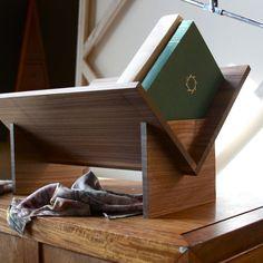 Walnut book shelf by Book-Shop, no hardware! $165