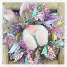 A personal favorite from my Etsy shop https://www.etsy.com/listing/517271381/bunny-bottom-easter-wreath