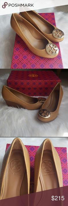 Tory Burch Sally Wedge Heels Authentic Tory Burch Sally wedges brand new &  never worn.