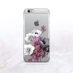iPhone 7 Anemone Clear Rubber Case iPhone 7 Plus by HelloNutcase