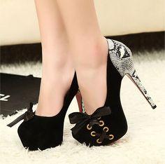 "Clubwear 5.3"" High Heels Fuax Suede Platform Pump Open Toe Heels $37.50"