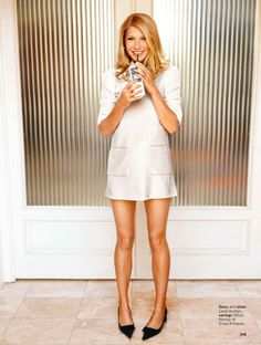 Gwyneth has gorgeous legs and isn't shy about showing them off