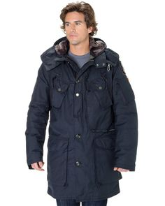 PARAJUMPERS Adirondack Men Navy Midseason Down Jacket