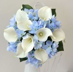 Blue hydrangea bouquet | Blue