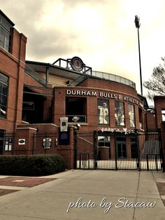 Durham Bulls Stadium in Durham, NC - my Uncle played ball here. He's in his and still plays ball. Wonderful Places, Great Places, Places Ive Been, Beautiful Places, Places To Visit, North Carolina Homes, South Carolina, Durham County, Carolina Hurricanes