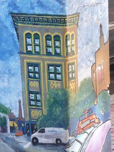 Central Square utility box mural