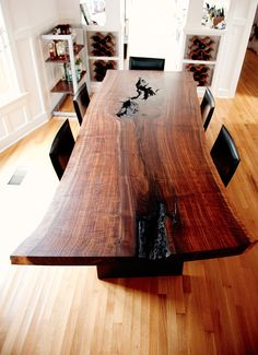 Wood Slab Furniture by Taylor Donsker Design