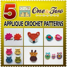 @Oneandtwocompany has many great applique crochet patterns plus several other options in their shop! The patterns are very well written and beautifully illustrated! I can't say enough good things about this shop! Check her out on FB as well!!