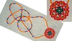 Beadweaving Bead Mandala PATTERN scroll way down