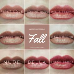 Just LOOK @ these awesome neutrals! Stock up on your favorite fall lippydoos I haven't tried Plum Pretty yet, but it keeps calling my name! I'll look gorgeous!' SeneGence distributor id# 406827 Fall Makeup, Summer Makeup, Senegence Makeup, Senegence Products, Lip Products, Beauty Products, Fall Lip Color, Lipsense Lip Colors, Lipstick Colors