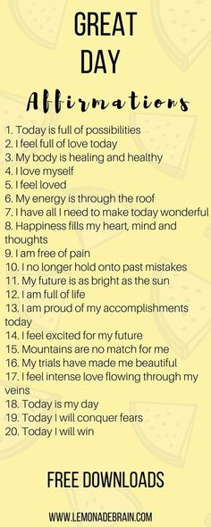 Affirmations are a great way to have a better day! Hey, I'm a poet and I didn't know it. Okay, I guess I do know it because I am a songwriter, to technically I am a poet. But enough about me, this post is about you! Affirmations have been life changing fo Positive Affirmations Quotes, Morning Affirmations, Affirmation Quotes, Affirmations For Happiness, Quotes Positive, Mantra, Positive Quotes For Life Happiness, Positive Thoughts, The Words