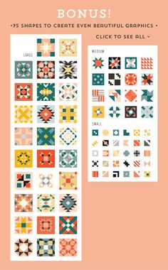 QUILT Geometric Patterns *SALE* by Anugraha Design on @creativemarket