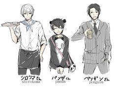 Polar, Panda e Pinguim <3~