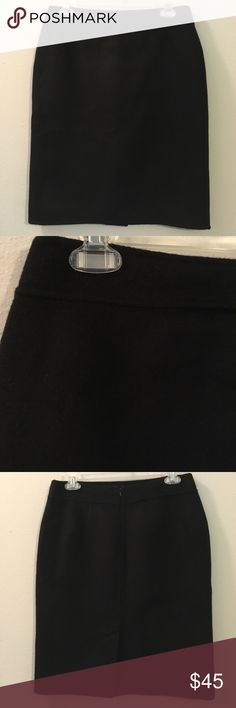"""Black Winter Wool Pencil Midi Fitted Skirt A staple piece for every woman's closet! Soft brushed Italian wool with a fully lined interior and hidden back zip closure. In excellent preloved condition and 21"""" long. Talbots Skirts Pencil"""