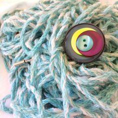 Spillone Spilla da sciarpa  Spillone da cappotto con bottoni vintage : Spille di paperart-roma