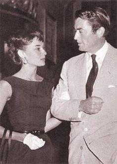 Audrey Hepburn with friend Gregory Peck