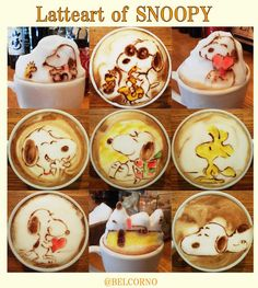 latte art en couleur par yuushi ito snoopy   Latte art en couleur par Yuuichi Ito   Yuuichi Ito Sculpture photo latte art image couleur cappucino café