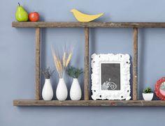 recycled ladder shelf