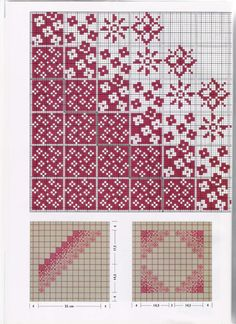 Abstract - this might work in a knitting pattern Fair Isle Knitting Patterns, Knitting Charts, Knitting Stitches, Intarsia Knitting, Free Knitting, Double Knitting Patterns, Fair Isle Pattern, Cross Stitch Charts, Cross Stitch Designs
