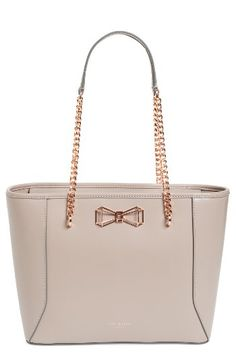 e8443bc9e89d94 Ted Baker London Ted Baker London  Jalie - Geometric Bow  Leather Shopper  available at