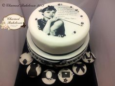 Audrey Hepburn Cake & Cupcakes - Cake by Charmed Bakehouse