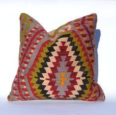 Kilim Pillow Cover - 16x16
