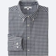 Men's Casual Button Down Shirts Cotton Shirts For Men, Casual Shirts For Men, Casual Button Down Shirts, Men Casual, New Outfits, Trendy Outfits, Uniqlo Men, Check Shirt, Flannel Shirt