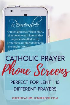 15 different phone screens, each with a different classic Catholic prayer. Perfect to elevate your Lent; ideal for memorizing new prayers for converts and teens. Catholic Doctrine, Catholic Prayers, Catholic Kids, Catholic Homeschooling, Becoming Catholic, Light Of Christ, Christian Life, Christian Living, Religious Education